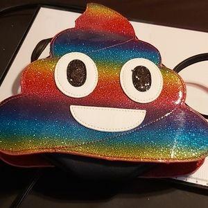Handbags - Tye dye poop emoji purse